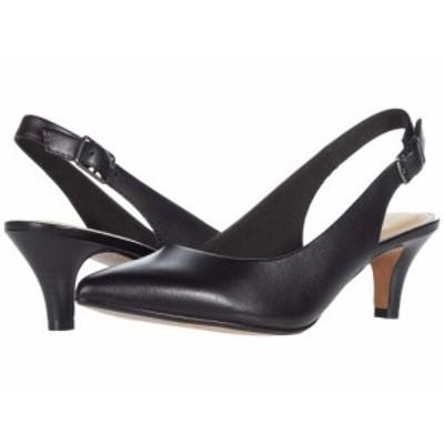 Clarks クラークス レディース 女性用 シューズ 靴 ヒール Linvale Sondra Black Leather【送料無料】