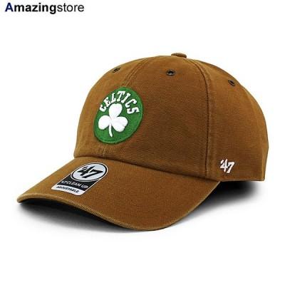 47ブランド カーハート ボストン セルティックス 【CARHARTT NBA CLEAN UP STRAPBACK CAP/BROWN】 47BRAND BOSTON CELTICS