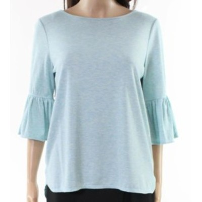 bell ベル ファッション トップス Max Studio NEW Blue Womens Size Small S Bell Sleeve Boat Neck Knit Top