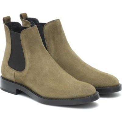 トッズ Tods レディース ブーツ ショートブーツ シューズ・靴 suede ankle boots Verde Loden