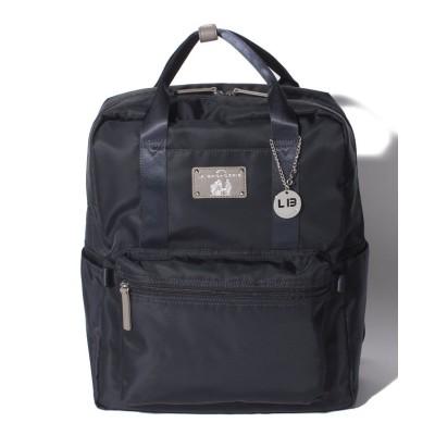 (LA BAGAGERIE/ラ バガジェリー)10ポケット持ち手付きリュック Lサイズ/レディース ネイビー