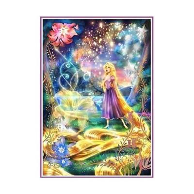 A3 Rond 光る長い髪 ダイヤモンドアート /全面貼り付けタイプ/丸型(ラウンド)/ビーズアート/モザイクアート/ハンドメイド/手芸キット