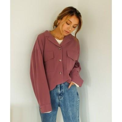 シャツ ブラウス 【Holiday】アムンゼンオープンカラーシャツジャケット