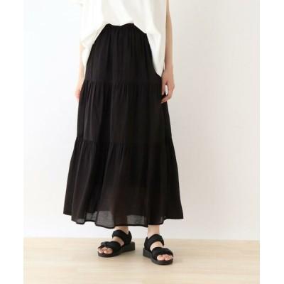 SHOO・LA・RUE/シューラルー オーガンジーティアードスカート ブラック(019) 00(FREE)