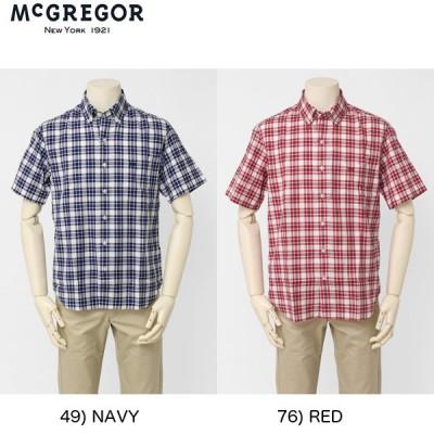 McGREGOR(マグレガー)メンズ 半袖シャツ マクレガ- メンズ 半袖シャツ 111161201 100周年記念モデル  タータンチェックBDシャツ
