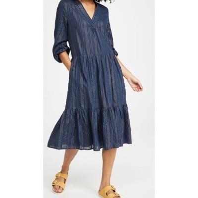 バーズ オブ パラディス Birds of Paradis レディース ワンピース Aライン ワンピース・ドレス Holland Tiered Dress Moonlit Stripe