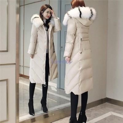 中綿ジャケット レディース 冬服 フード付き ゆったり ロングコート 暖かい ダウンコート アウタージャケット 厚手