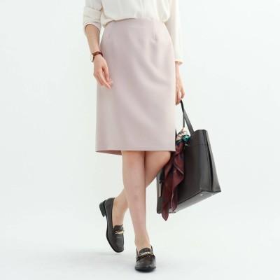 インディヴィ INDIVI [S]【マシンウォッシュ/UV】ハイストレッチタイトスカート (ベビーピンク)