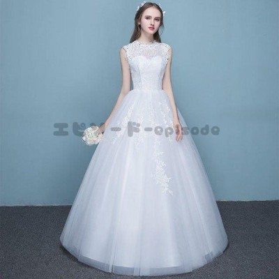 安い ウェディングドレス パーティードレス プリンセスライン ウエディングドレス ホワイト 大きいサイズ お姫様 結婚式 花嫁 二次会