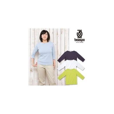 [BS329] ビアスポ/Tシャツ レディース 七分袖 綿100%