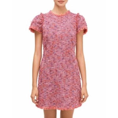 ケイトスペード レディース ワンピース トップス flutter sleeve tweed dress PINK