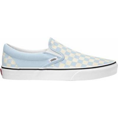 バンズ レディース スニーカー シューズ Vans Classic Slip-On Shoes Blue/White Checker