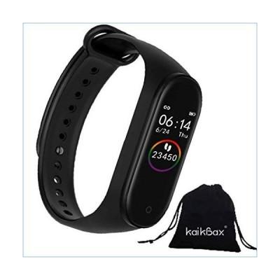 BoBoLing Black Smart Watch - Fitness Tracker with Heart Rate Monitor - Waterproof Smart Bracelet - Pedometer Smart Wristbands Bracelet for W