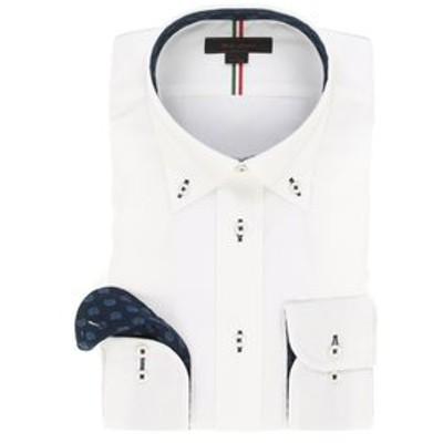 形態安定レギュラーフィット ボタンダウンテープ使い長袖シャツ