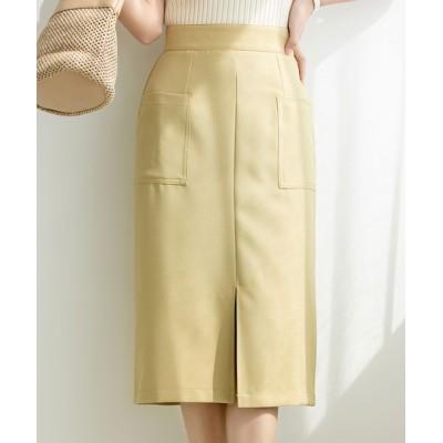 SAISON DE PAPILLON / センタースリット入りセミタイトスカート WOMEN スカート > スカート
