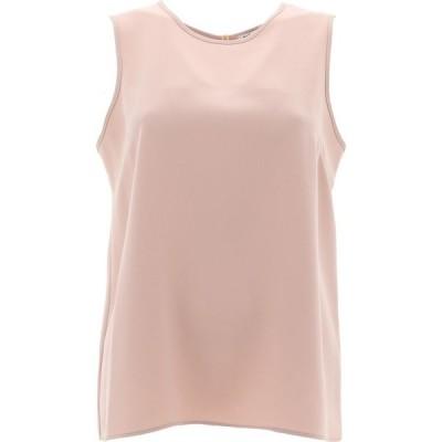 パロッシュ P.A.R.O.S.H. レディース ノースリーブ トップス Sleeveless Top With Slit Pink