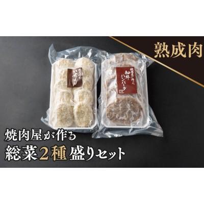 010B713 焼肉屋が作る牛肉の総菜2種盛りセット