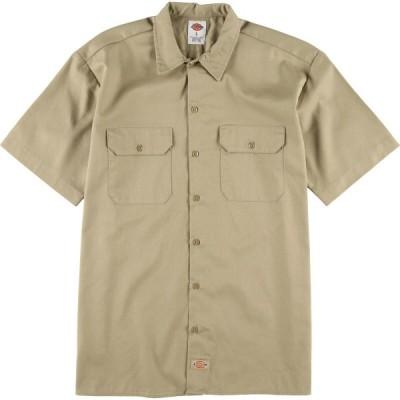 ディッキーズ Dickies 半袖 ワークシャツ メンズL /eaa029950