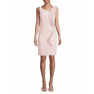 カールラガーフェルドパリ レディース ワンピース Mesh Ruffle Knee-Length Dress