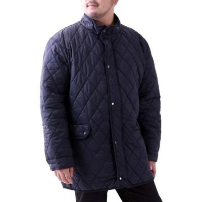 [ルイシャブロン] キルティングジャケット メンズ おおきいサイズ コート ジャケット アウター カジュアル ブルゾン 無地 中綿 撥水加工 ネイビー