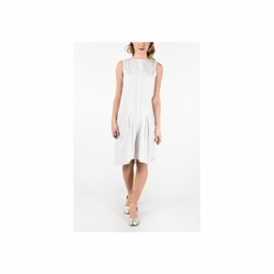 MAISON MARGIELA/メゾン マルジェラ Black & White レディース MM6 Zip Back Closure Striped Dress dk