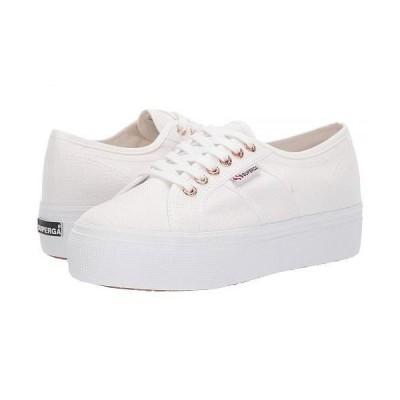 Superga スペルガ レディース 女性用 シューズ 靴 スニーカー 運動靴 2790 Acotw Platform Sneaker - White/Rose