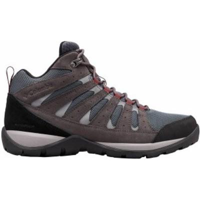 コロンビア メンズ ブーツ・レインブーツ シューズ Columbia Men's Redmond V2 Mid Waterproof Hiking Boots Graphite/Red