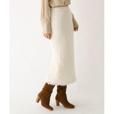 DRESSTERIOR(Ladies)(ドレステリア(レディース)) ツイード風 ニットロングスカート