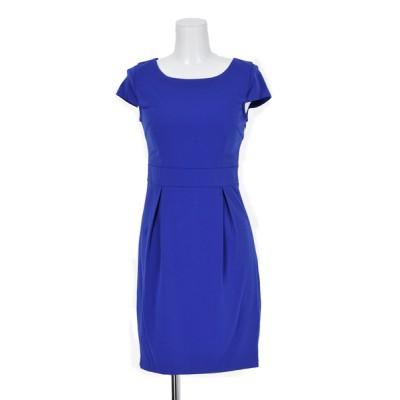 ドレス バックリボンドレープミニドレス