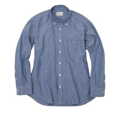 綿100%オックスシャンブレー無地長袖ボタンダウンシャツ/CANTERBURY WOOD(カンタベリーウッド) カジュアルシャツ, Shirts,