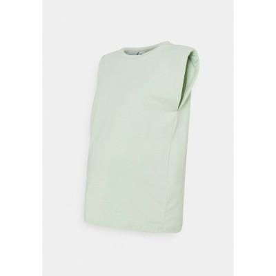 ママリシャス Tシャツ レディース トップス MLNILLA TANK - Basic T-shirt - cameo green