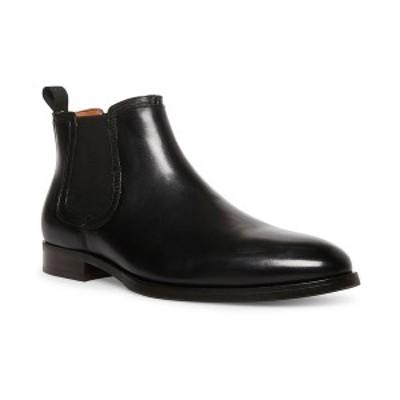 スティーブ マデン メンズ ブーツ&レインブーツ シューズ Men's Agaze Leather Boots Black