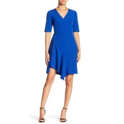 マギーロンドン レディース ワンピース トップス Solid Dream Asymmetrical Woven Dress PATRIOT BL