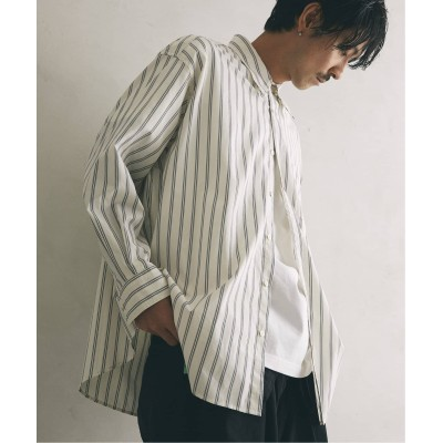 メンズ ジャーナルスタンダード レリューム 【PALMER for relume】SLOUCHY ストライプシャツ ホワイト M