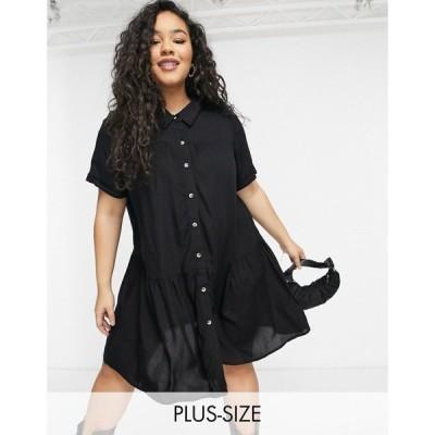 ユアーズ Yours レディース ワンピース シャツワンピース ワンピース・ドレス Mini Shirt Dress In Black ブラック