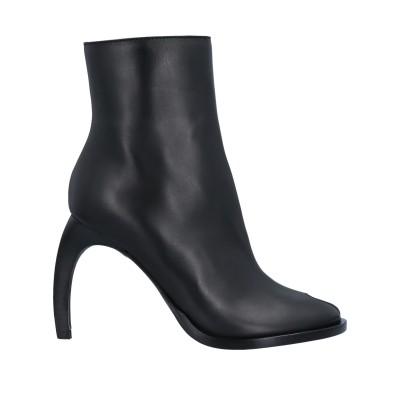 アン ドゥムルメステール ANN DEMEULEMEESTER ショートブーツ ブラック 37 牛革(カーフ) ショートブーツ