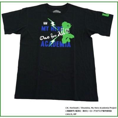 僕のヒーローアカデミア Tシャツ 緑谷出久 シルエット X513-822 040 ブラック L b03