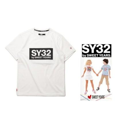 SY32 by SWEET YEARS TNS1708K KIDS BIGスクエア ボックスロゴ 半袖Tシャツ color:WHITE(ホワイト)