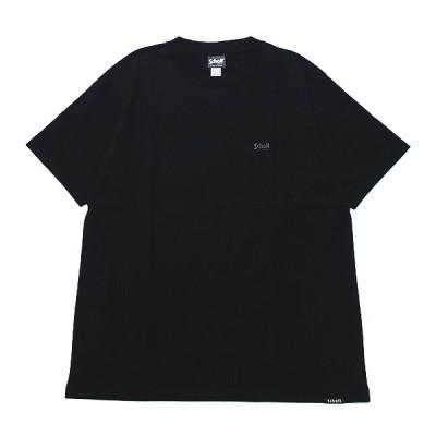 SCHOTT ショット ワンポイント半袖Tシャツ ONE POINT S/S TEE メンズ ストリート アメカジ シンプル ロゴ刺繍 3113106 ブラック 黒 M L XL