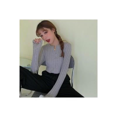 【送料無料】秋 レディース 韓国風 インナー 着やせ 着やせ 長袖セーター セーター 怠 | 364331_A63624-8383790