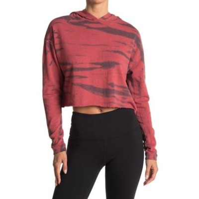 ゼットバイゼラ レディース パーカー・スウェットシャツ アウター Mosey Tie-Dye Knit Hoodie RED COUTURE