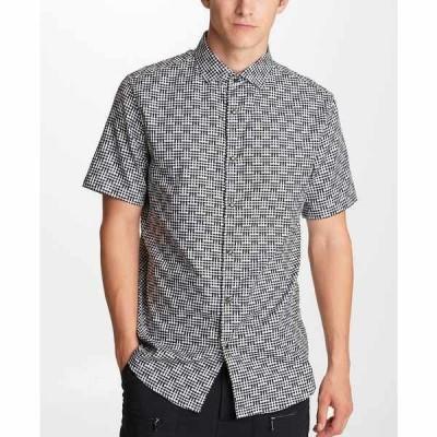 カールラガーフェルド シャツ トップス メンズ Men's Basket Print Shirt Black/White