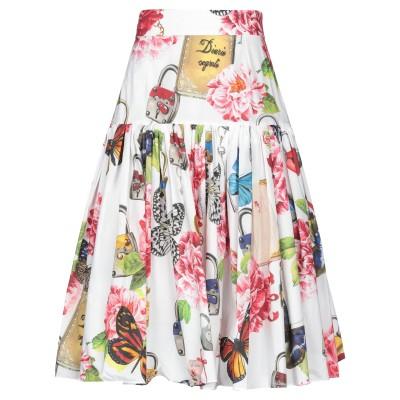 ドルチェ & ガッバーナ DOLCE & GABBANA 7分丈スカート ホワイト 36 コットン 100% 7分丈スカート