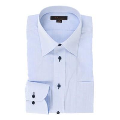 形態安定レギュラーフィット レギュラーカラー長袖ビジネスドレスシャツ