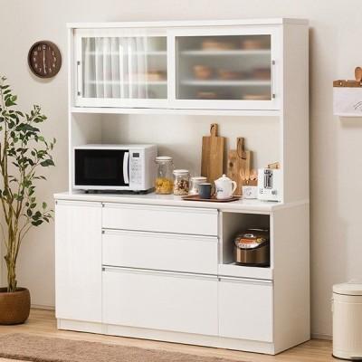 食器棚(レジューム 150TG-S WH/150SL-R WH) ニトリ 『配送員設置』 『5年保証』