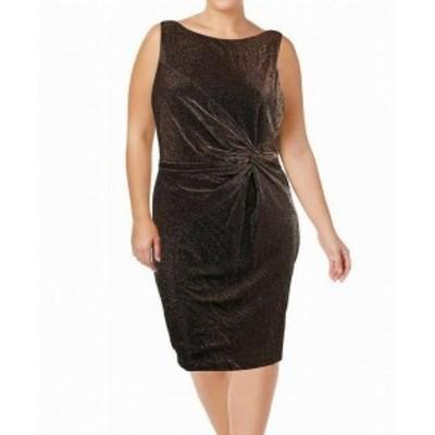 Calvin Klein カルバンクライン ファッション ドレス Calvin Klein NEW Black Womens Size 12 Plus Metallic Twist Dress