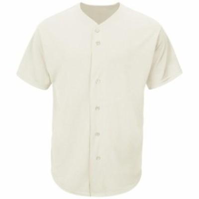 Majestic マジェスティック スポーツ用品  Majestic Youth Tan Cool Base Button Front Baseball Jersey