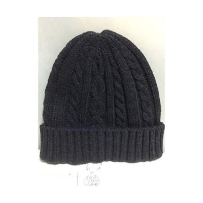 ニット帽 ダークグレー