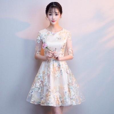 ミニドレス 二次会ドレス 花嫁 結婚式 演奏会 披露宴 ウェディングドレス パーティードレス プリンセス Wedding Dress