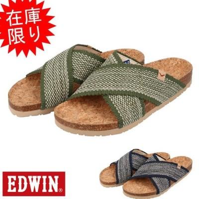 エドウィン EDWIN EW9101 メンズ フットベットサンダル クロスベルトサンダル 紳士 靴 19FW11